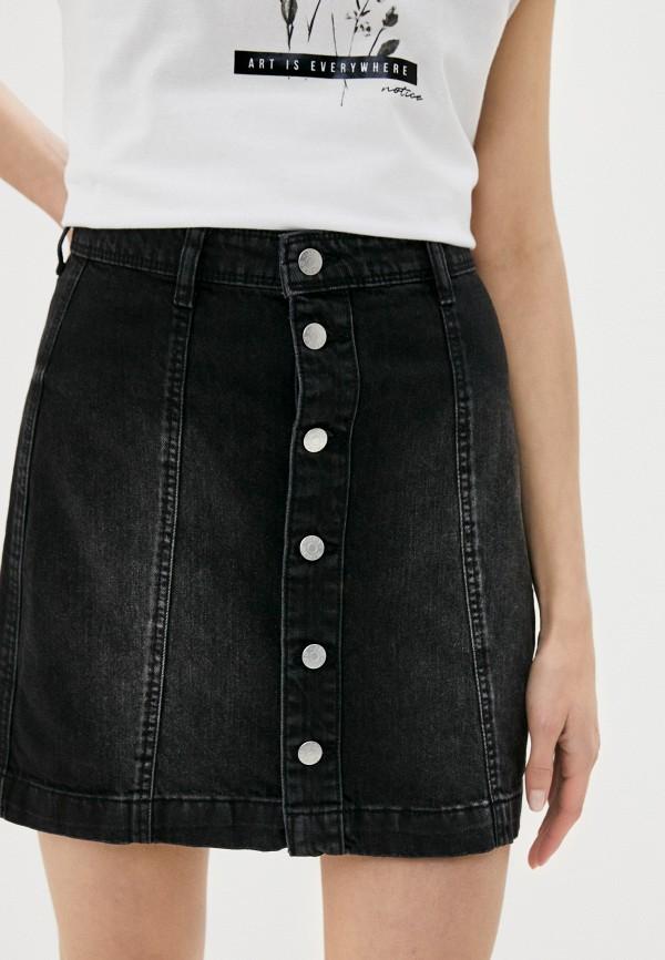 женская джинсовые юбка jacqueline de yong, черная