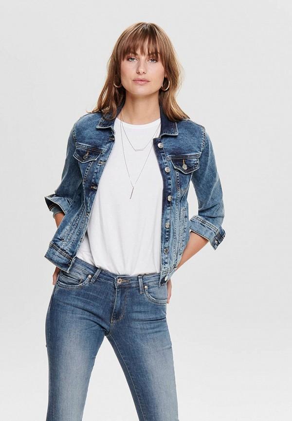 женская джинсовые куртка jacqueline de yong, синяя