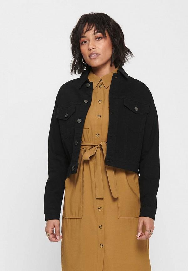 женская джинсовые куртка jacqueline de yong, черная