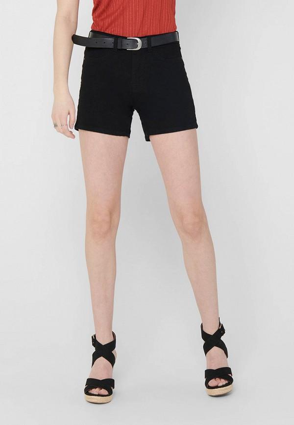 женские джинсовые шорты jacqueline de yong, черные