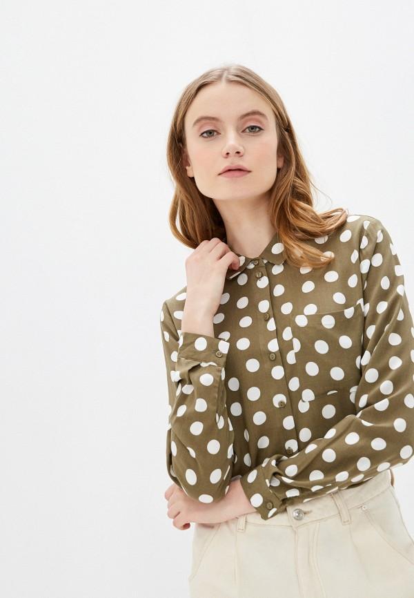 женская блузка с длинным рукавом jacqueline de yong, хаки