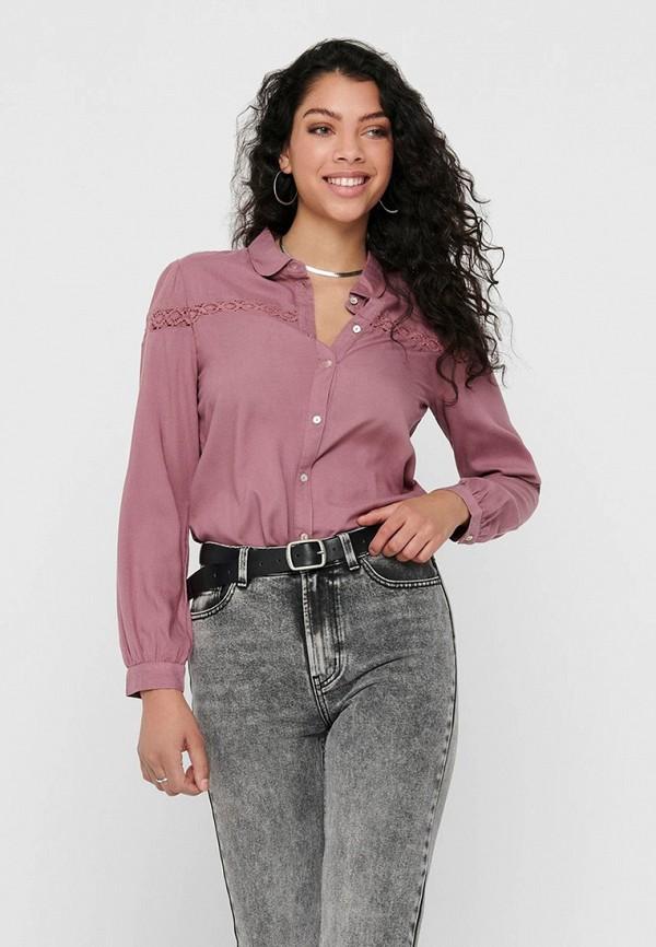 женская блузка с длинным рукавом jacqueline de yong, фиолетовая