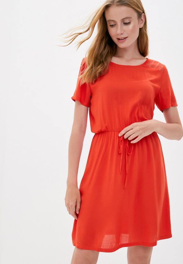 женское повседневные платье jacqueline de yong, красное