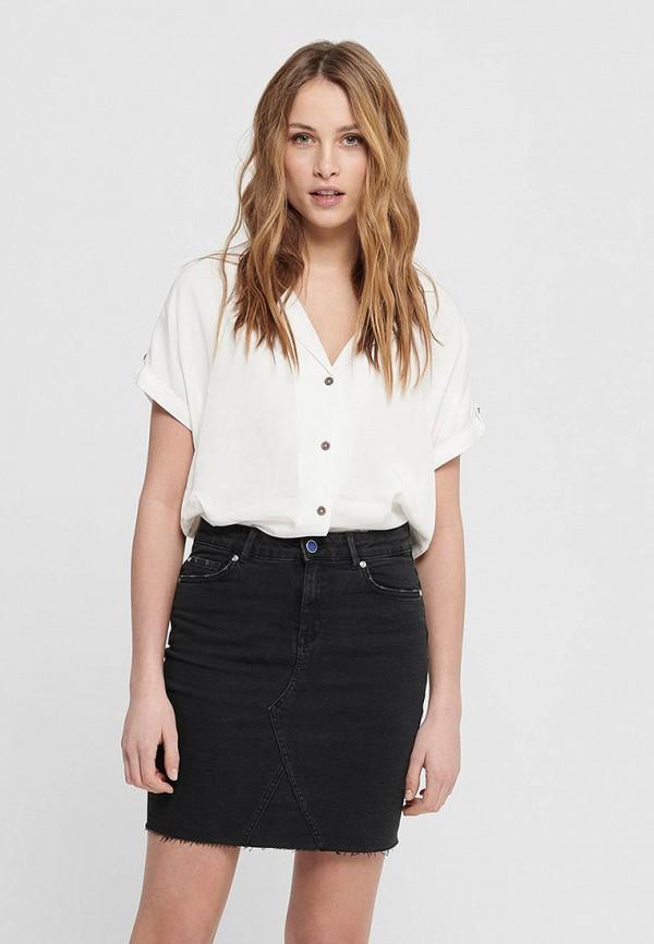 женская блузка с коротким рукавом jacqueline de yong, белая