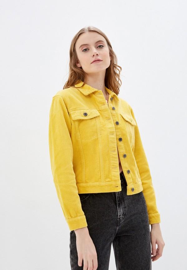 женская куртка jacqueline de yong, желтая