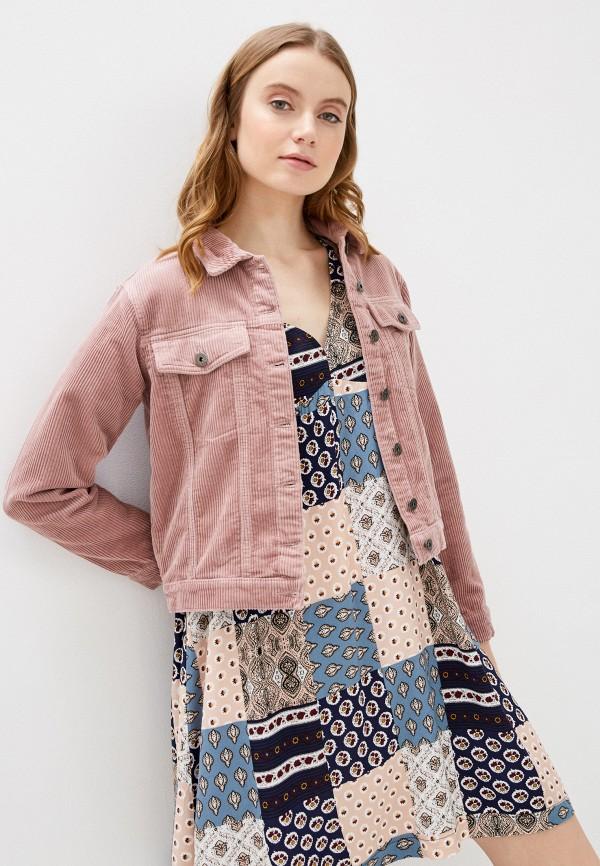 женская легкие куртка jacqueline de yong, розовая