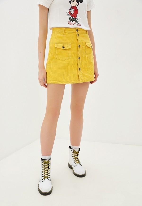женская юбка jacqueline de yong, желтая