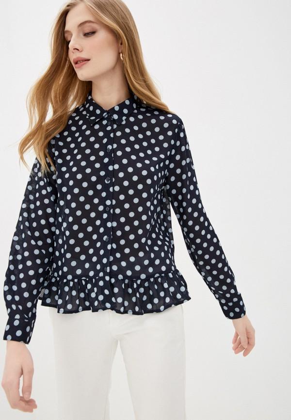 женская блузка с длинным рукавом jacqueline de yong, синяя