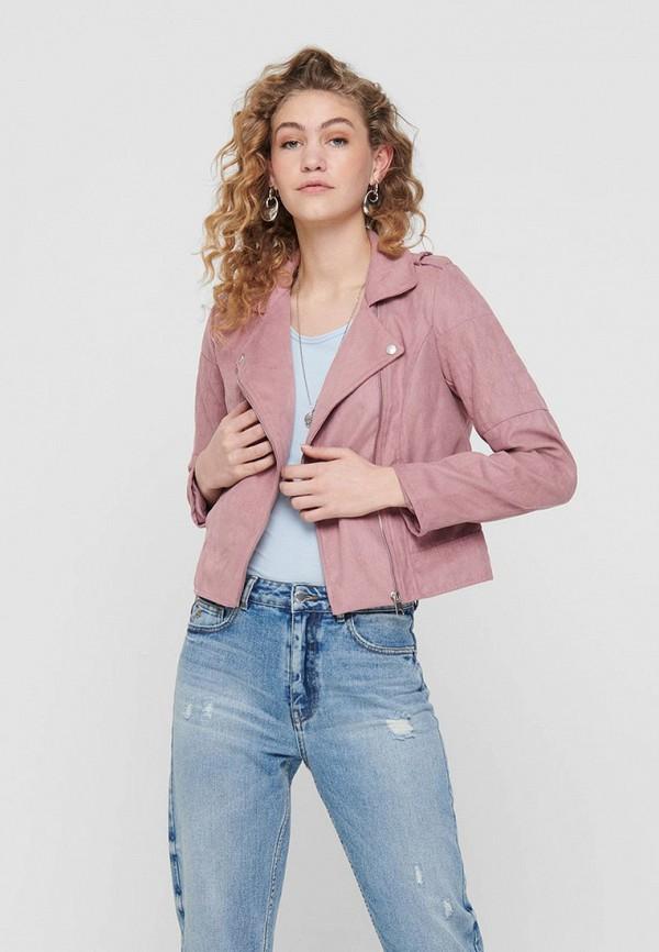 женская куртка косухи jacqueline de yong, фиолетовая