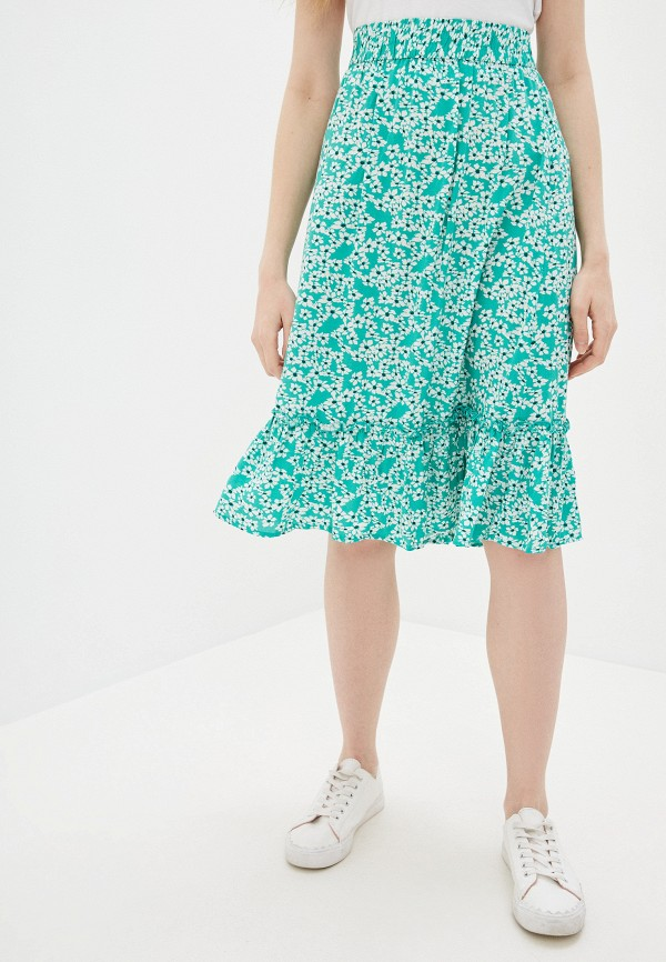 женская юбка jacqueline de yong, бирюзовая