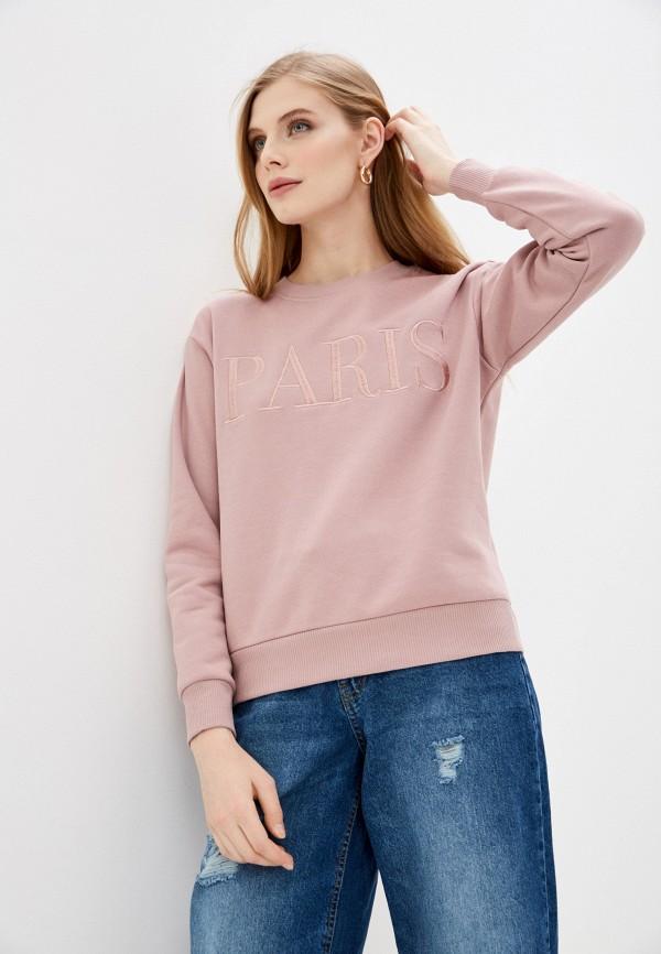 женский свитшот jacqueline de yong, розовый