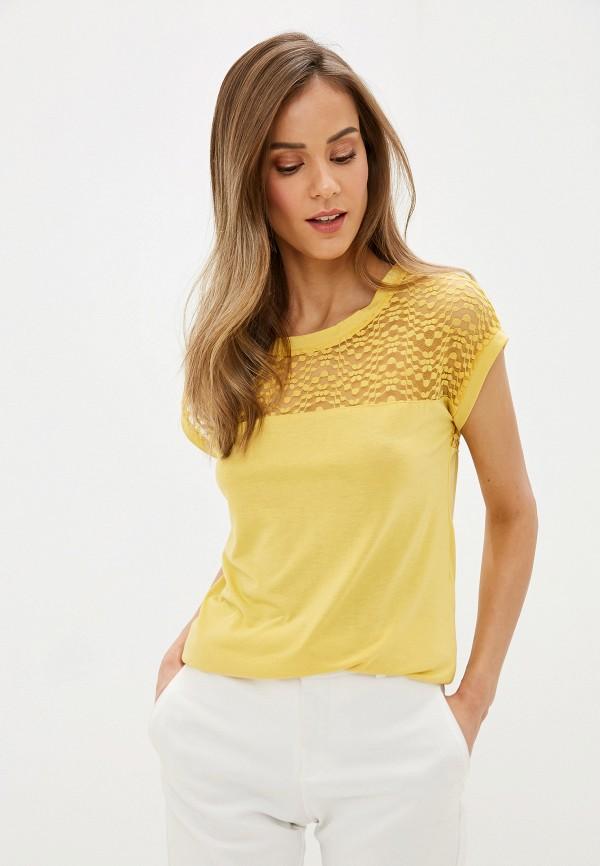 женская блузка с коротким рукавом jacqueline de yong, желтая