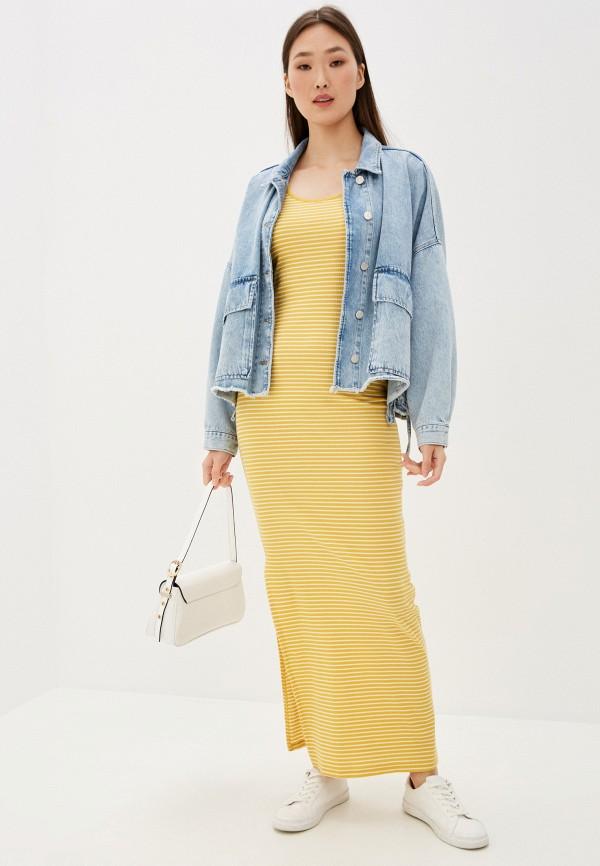 женское платье jacqueline de yong, желтое