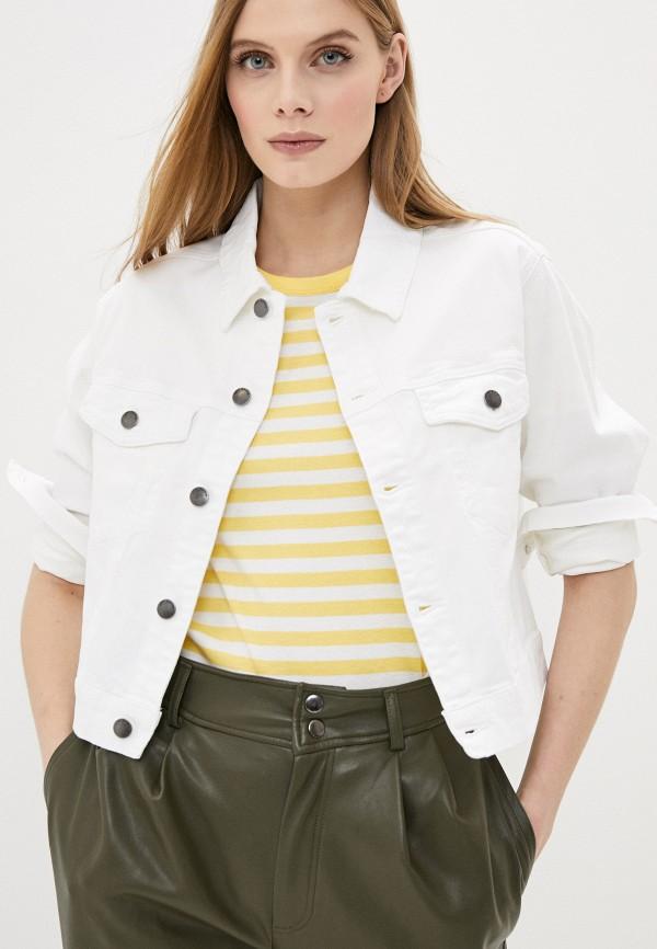 женская джинсовые куртка jacqueline de yong, белая