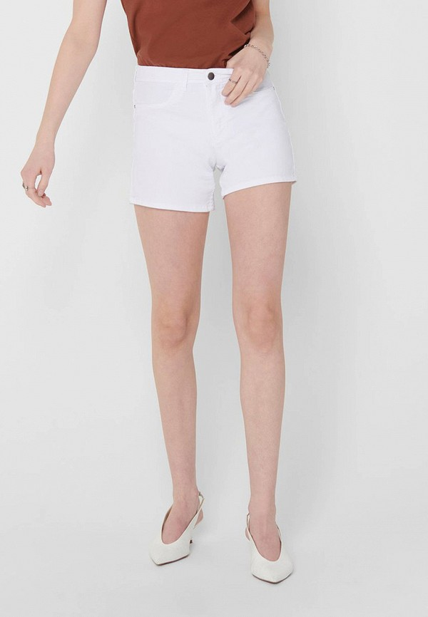 женские джинсовые шорты jacqueline de yong, белые