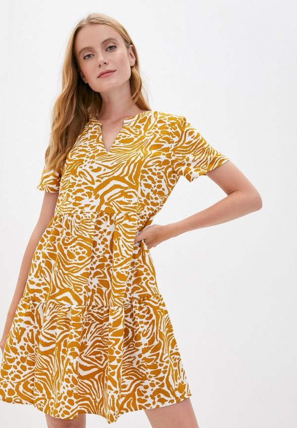 женское повседневные платье jacqueline de yong, желтое