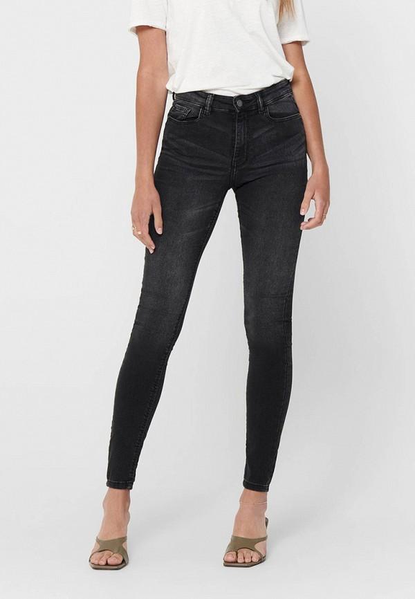 женские джинсы скинни jacqueline de yong, черные