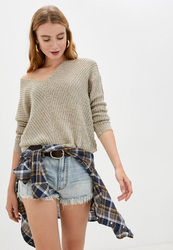 женский пуловер jacqueline de yong, бежевый