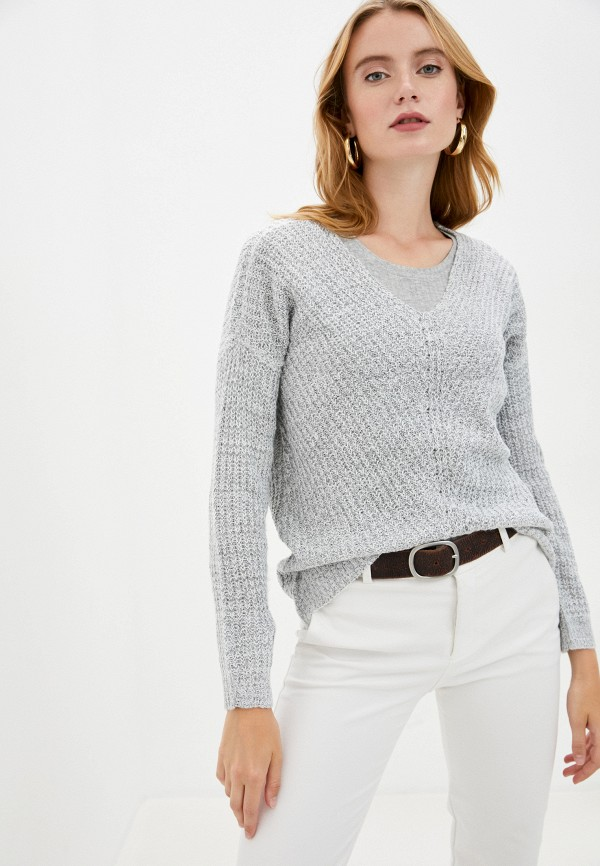 женский пуловер jacqueline de yong, серый