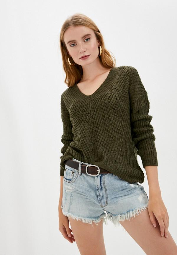 женский пуловер jacqueline de yong, зеленый