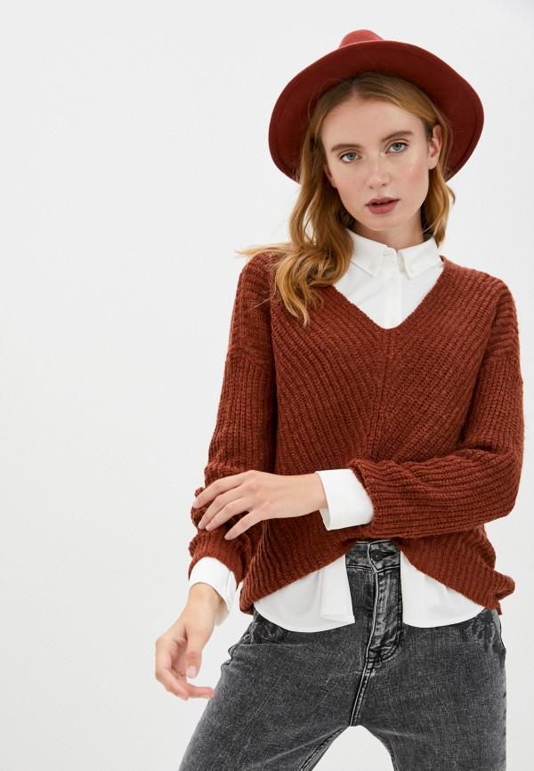 женский пуловер jacqueline de yong, красный