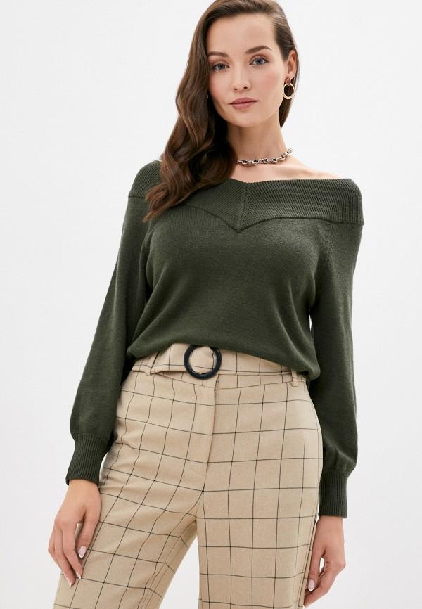 женский пуловер jacqueline de yong, хаки