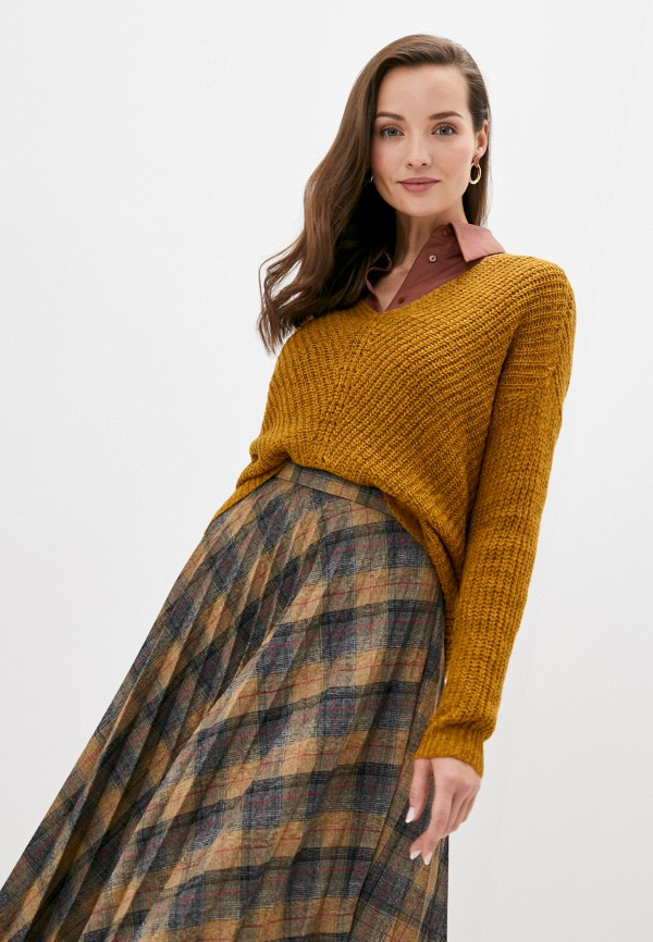 женский пуловер jacqueline de yong, коричневый