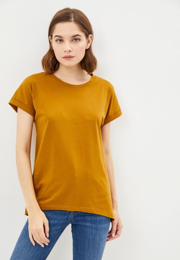 женская футболка jacqueline de yong, коричневая