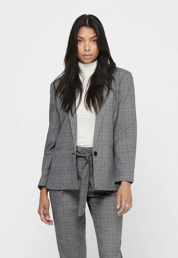женский пиджак jacqueline de yong, серый