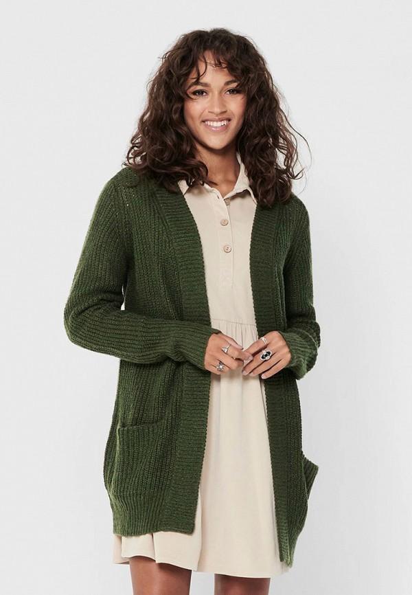 женский кардиган jacqueline de yong, зеленый