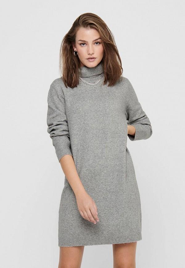 женское платье jacqueline de yong, серое