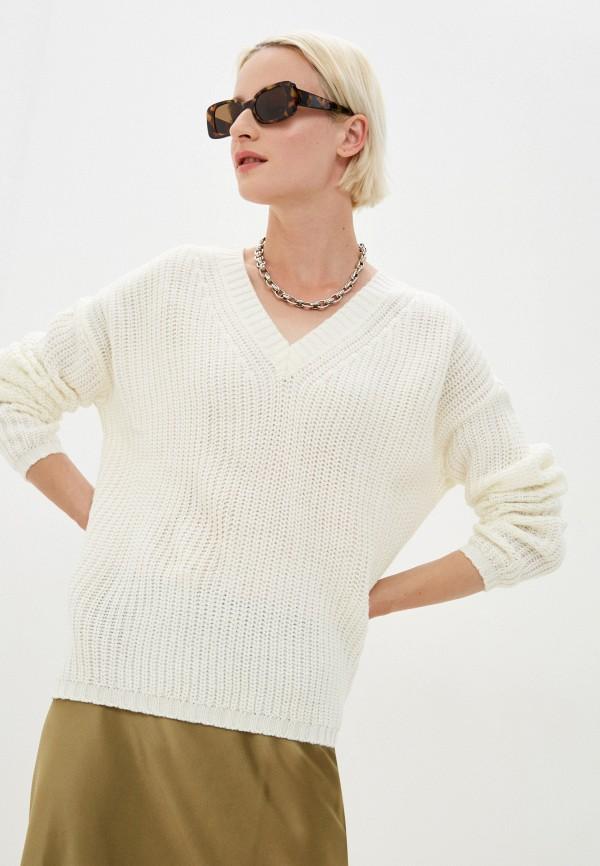 женский пуловер jacqueline de yong, белый