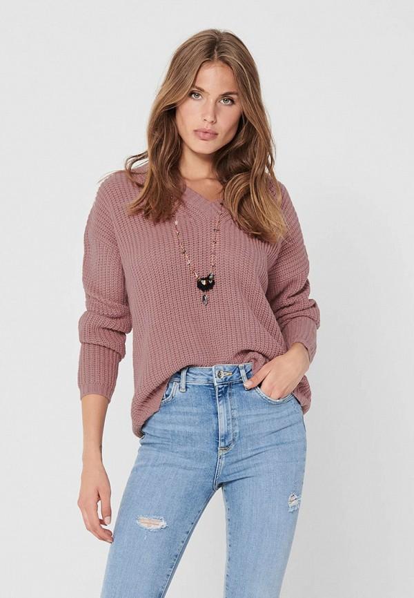 женский пуловер jacqueline de yong, розовый