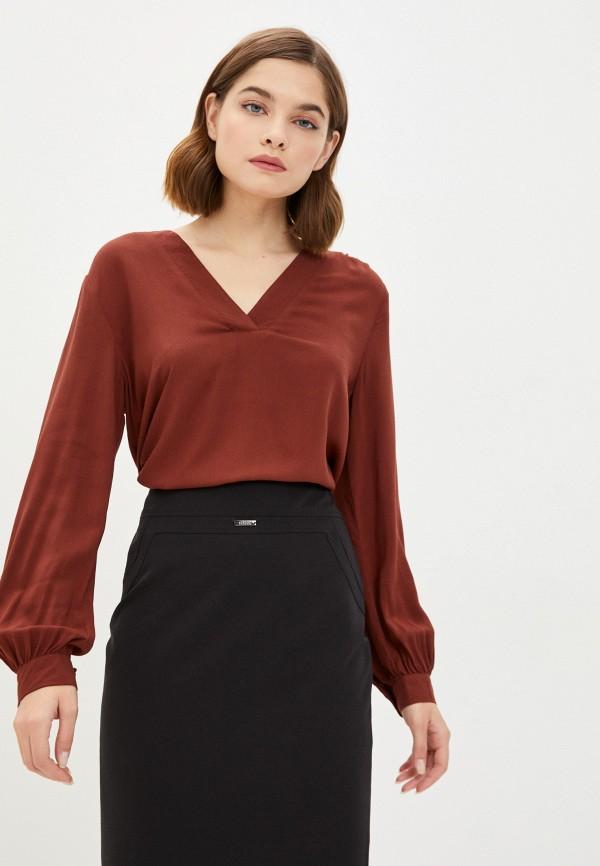 женская блузка jacqueline de yong, коричневая