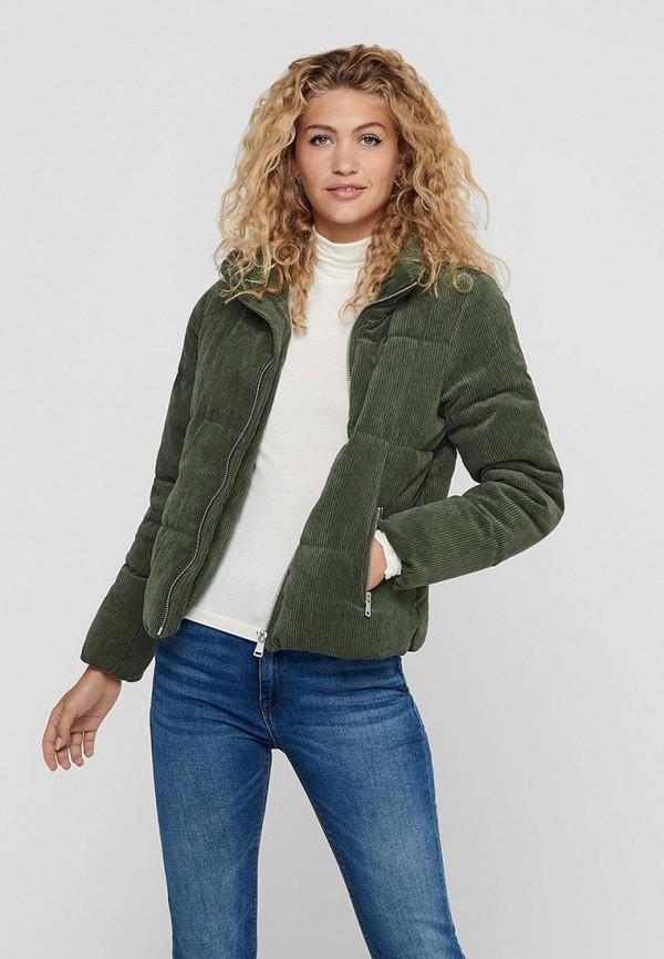 женская куртка jacqueline de yong, зеленая