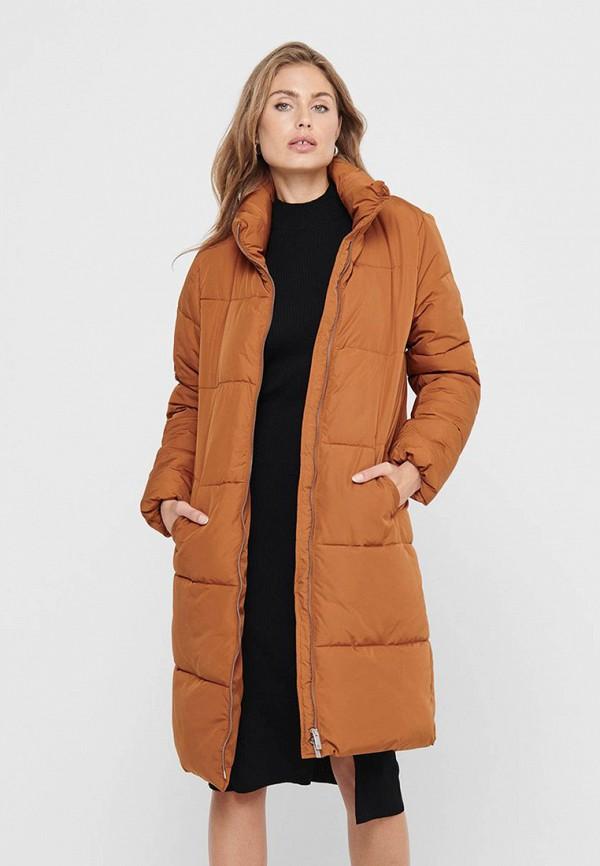 женская куртка jacqueline de yong, коричневая