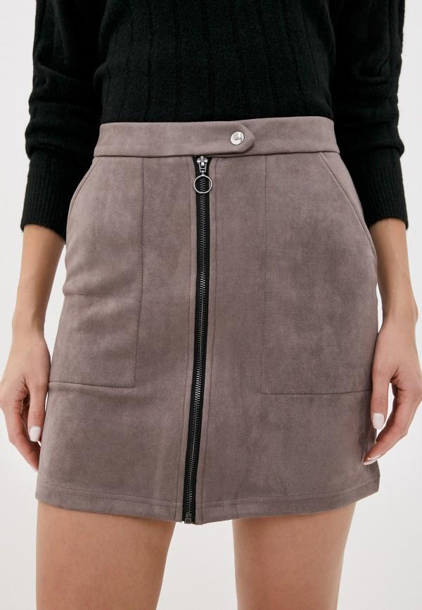 женская юбка jacqueline de yong, серая