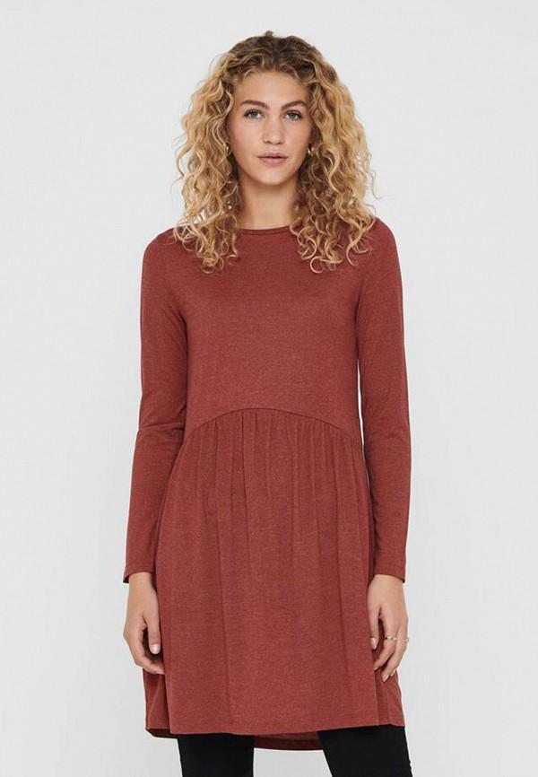 женское платье jacqueline de yong, коричневое