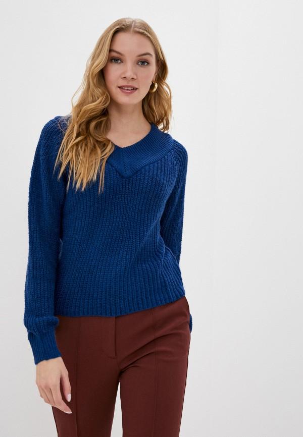 женский пуловер jacqueline de yong, синий