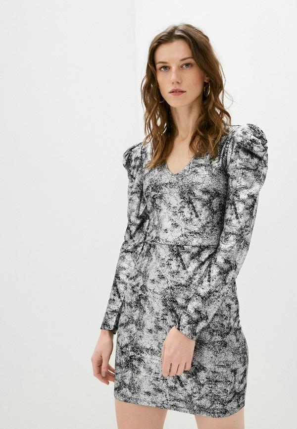 женское вечерние платье jacqueline de yong, серебряное