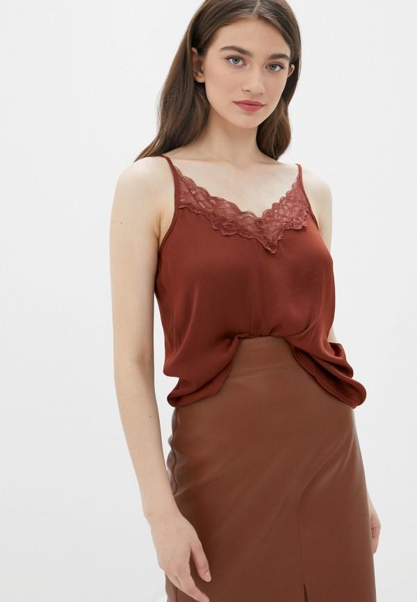 женский топ jacqueline de yong, коричневый