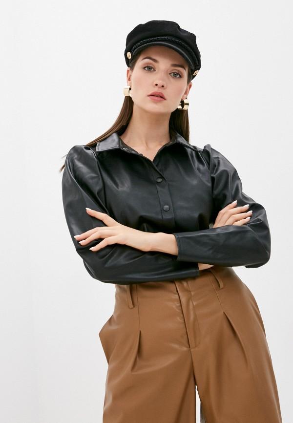 женская рубашка с длинным рукавом jacqueline de yong, черная