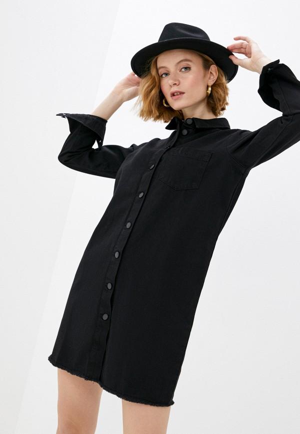 женское джинсовые платье jacqueline de yong, черное