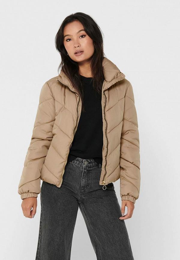 женская куртка jacqueline de yong, бежевая