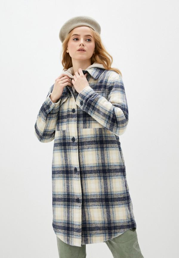 женское пальто jacqueline de yong, синее