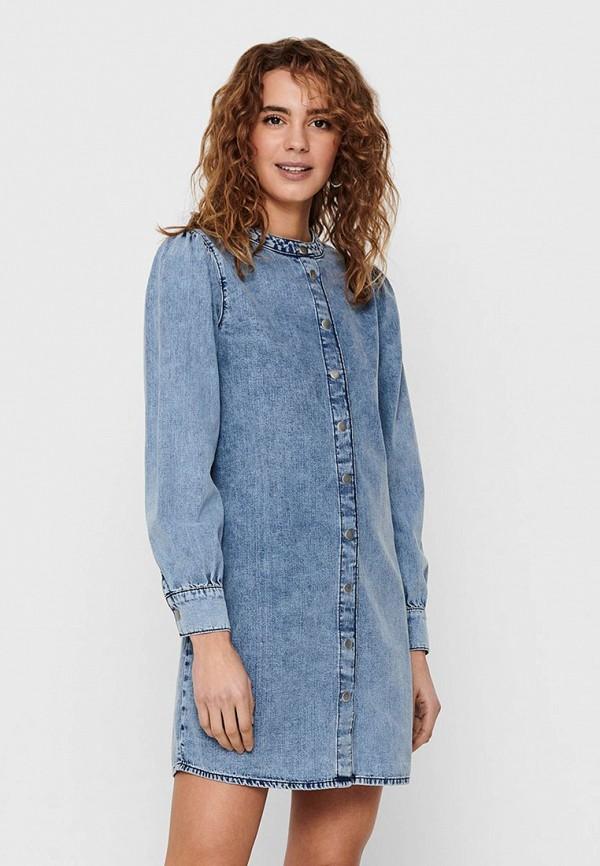женское джинсовые платье jacqueline de yong, синее