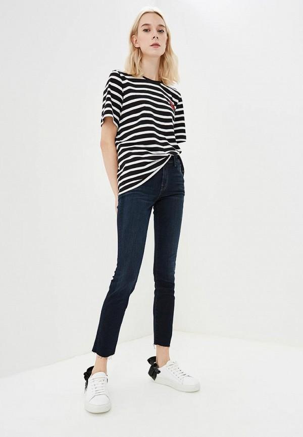 Фото 2 - женские джинсы J Brand синего цвета
