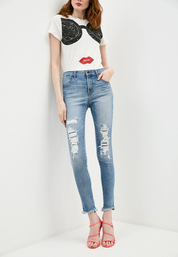 женские джинсы j brand, голубые