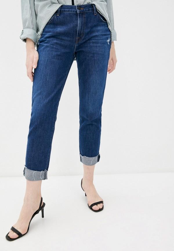 женские джинсы бойфренд j brand, синие