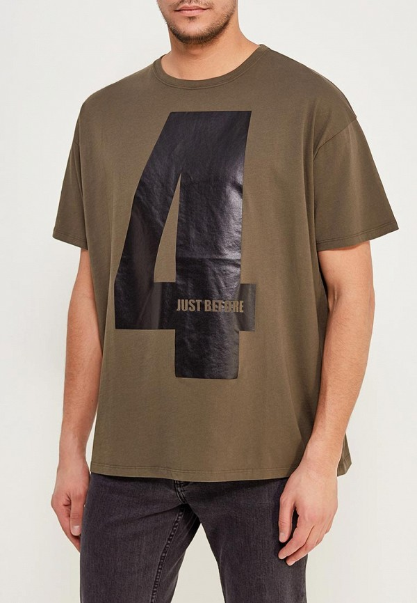 Фото - мужскую футболку J.B4 цвета хаки